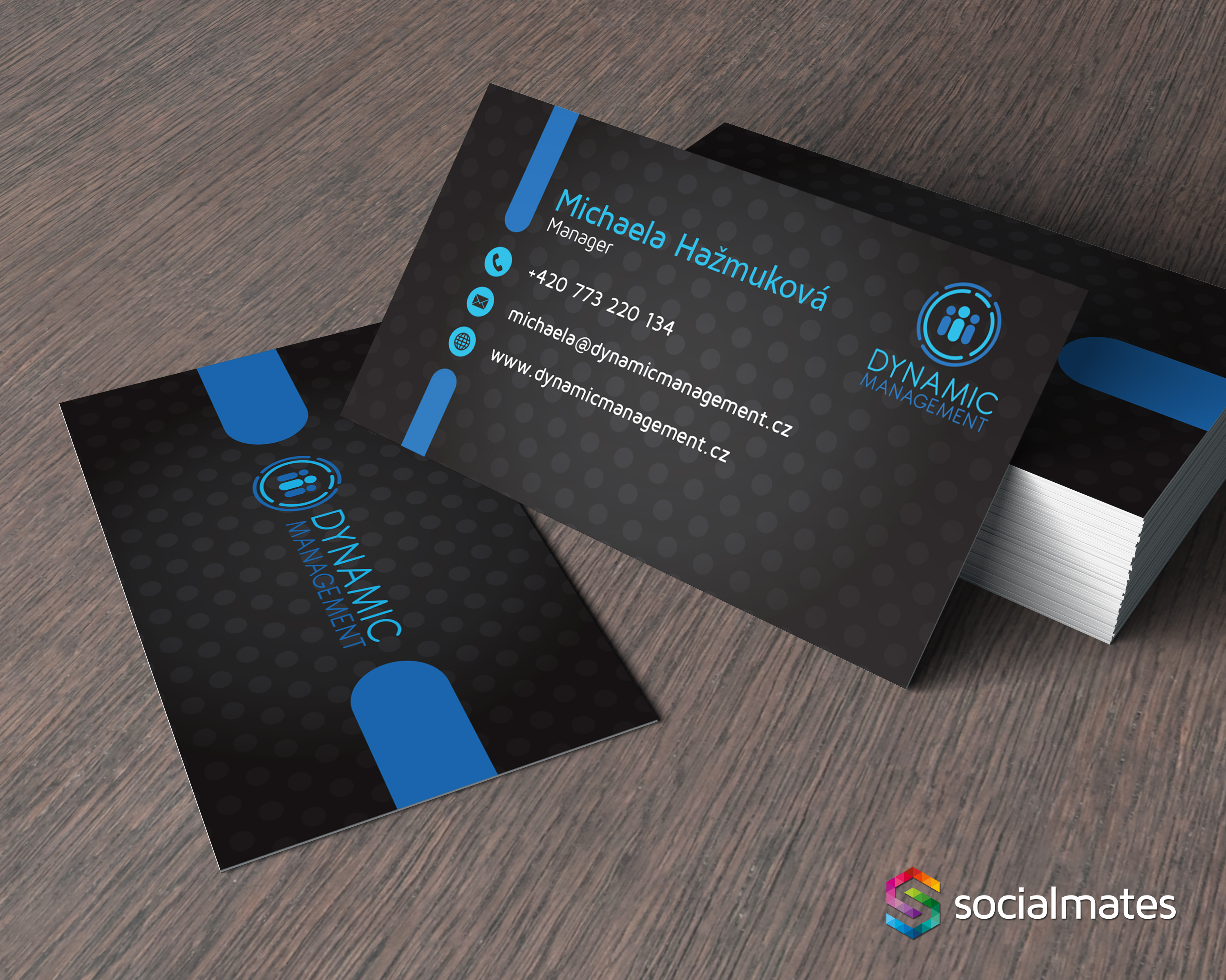 Dynamic Management Business Cards | Socialmates