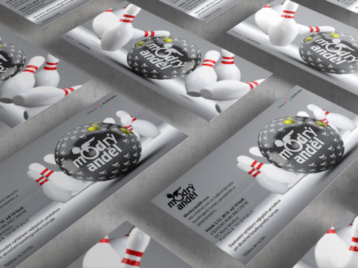 Modrý Anděl Party Invitations